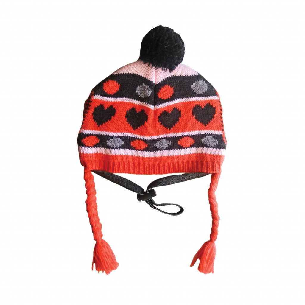 Ethical Pet Pink Heart Knit Hat for Dogs, Medium/Large