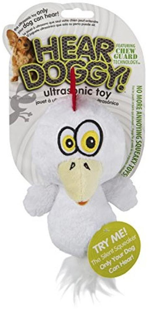 Hear Doggy Flats White Chicken Chew Guard Dog Toy Image