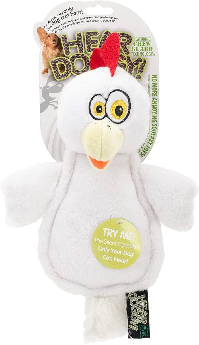 Hear Doggy Flats White Chicken Chew Guard Dog Toy, Large
