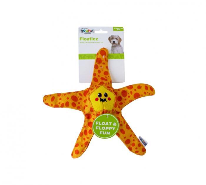 Outward Hound Floatiez Starfish Dog Toy, Orange, Medium