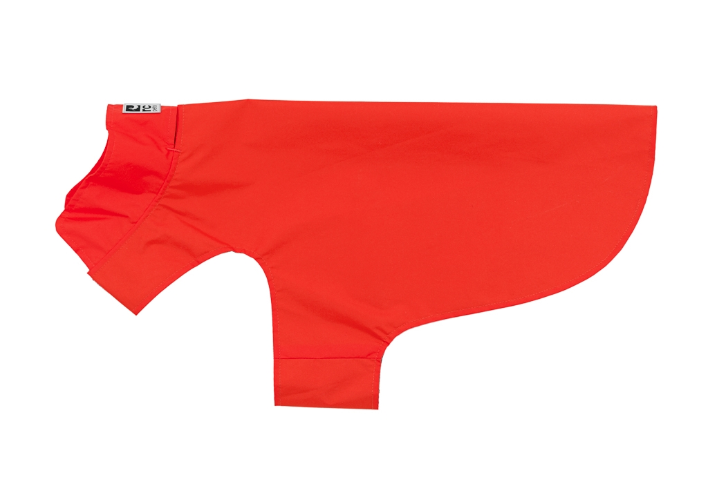 RC Pet Products Delta Rain Slicker Dog Raincoat, Crimson, Large