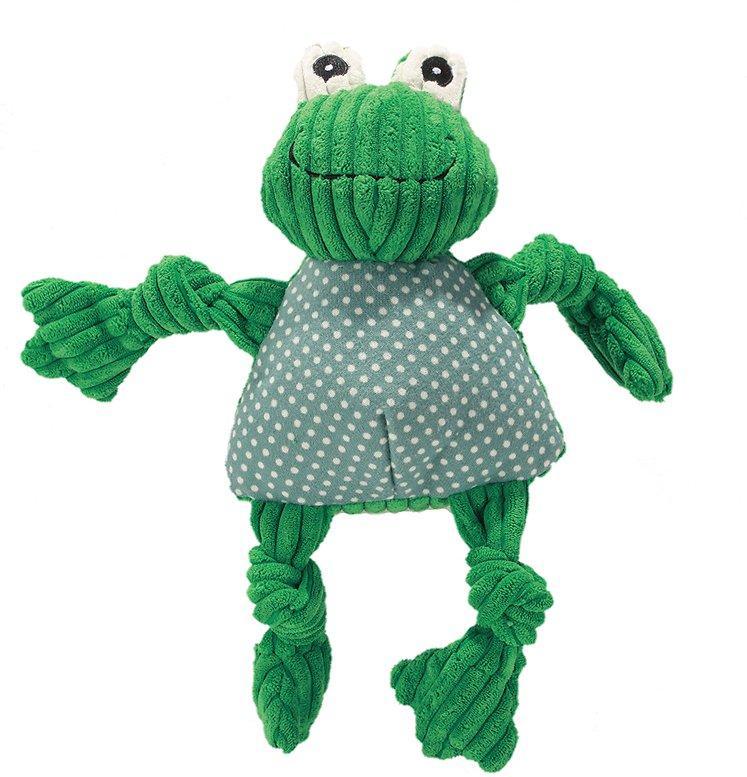 HuggleHounds Knottie Frog Dog Toy, Small