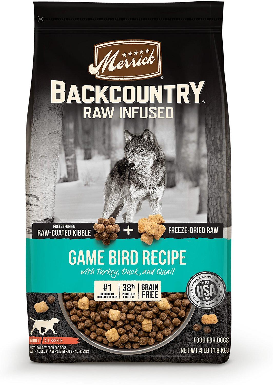 Merrick Backcountry Raw Infused Game Bird Freeze-Dried Dry Dog Food, 4-lb