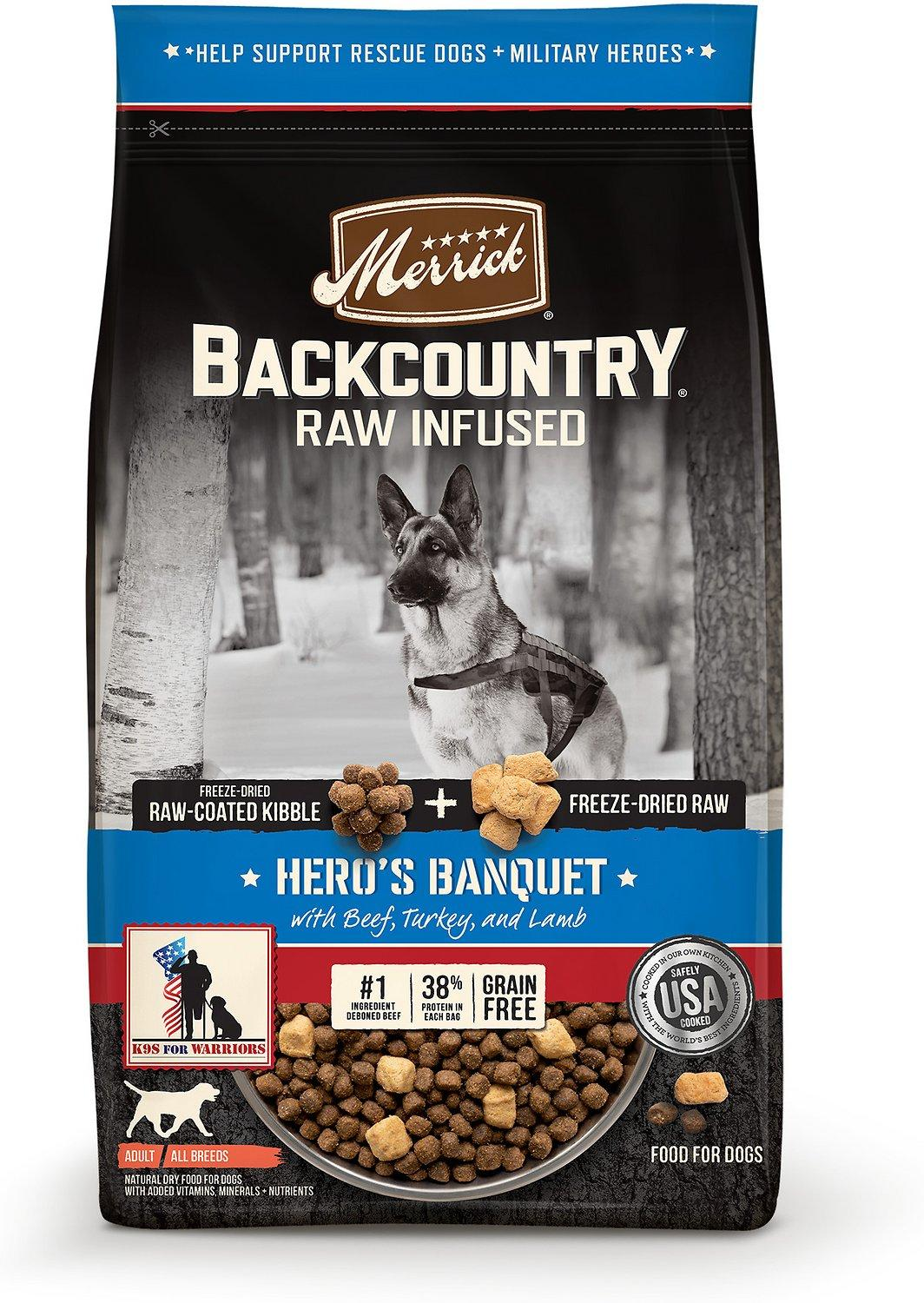 Merrick Backcountry Raw Infused Hero's Banquet Freeze-Dried Dry Dog Food, 10-lb