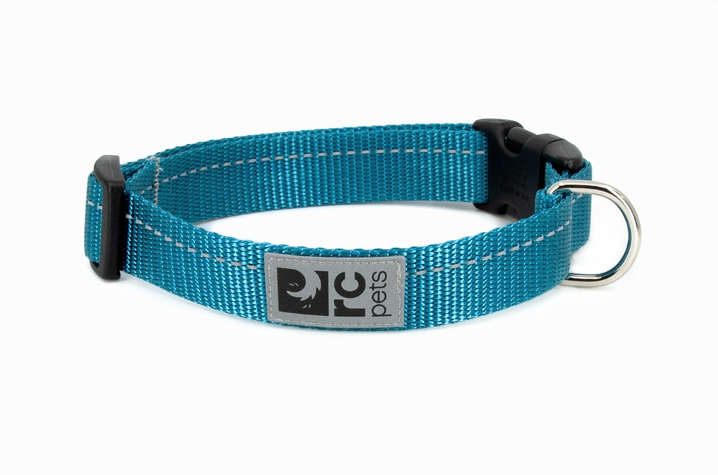 RC Pet Products Primary Clip Dog Collar, Dark Teal, Small