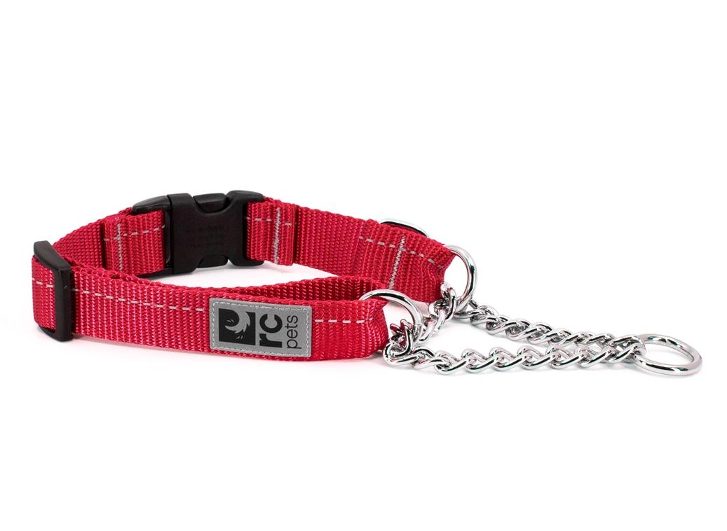 RC Pet Products Primary Training Clip Dog Collar, Red, Medium