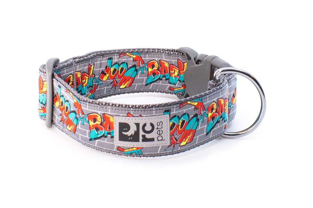 RC Pet Products Wide Clip Dog Collar, Graffiti, Large