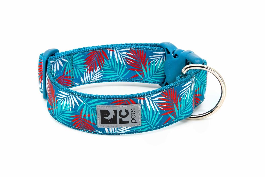 RC Pet Products Wide Clip Dog Collar, Maldives, Medium