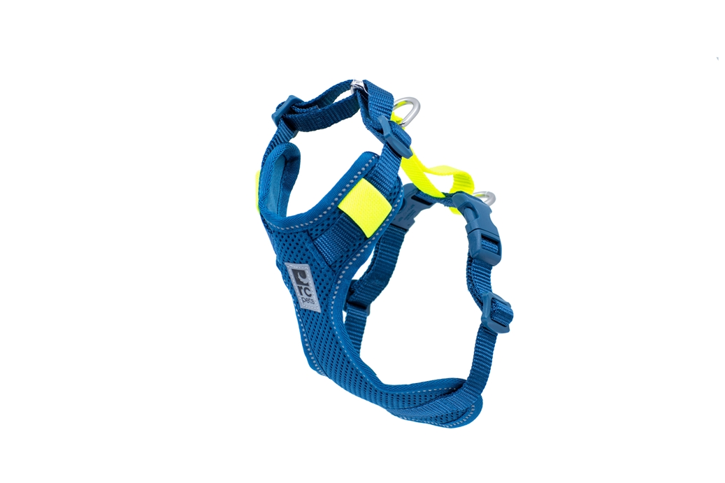 RC Pet Products Moto Control Dog Harness, Arctic Blue/Tennis, Small
