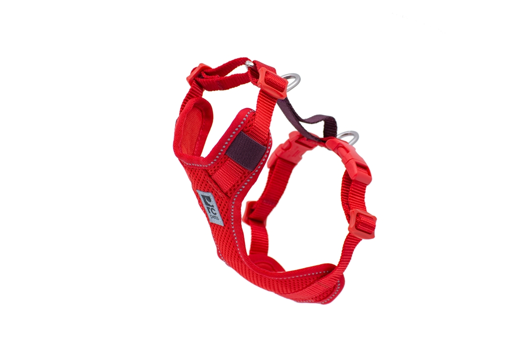 RC Pet Products Moto Control Dog Harness, Goji Berry/Burgundy, Medium