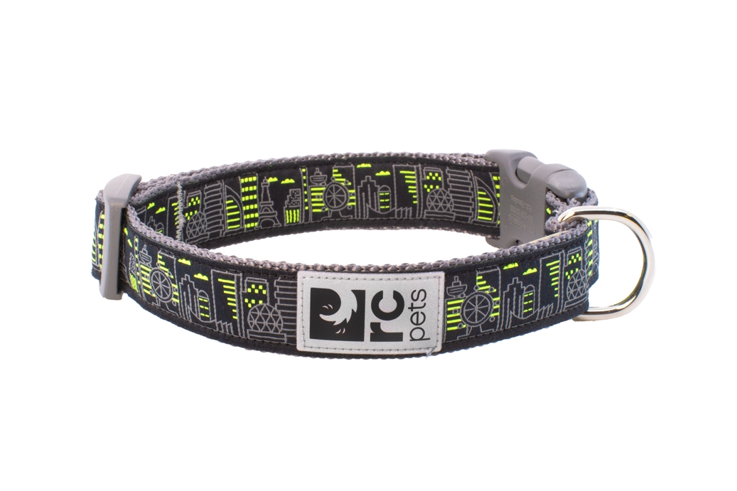 RC Pet Products Clip Dog Collar, Skyline, Large