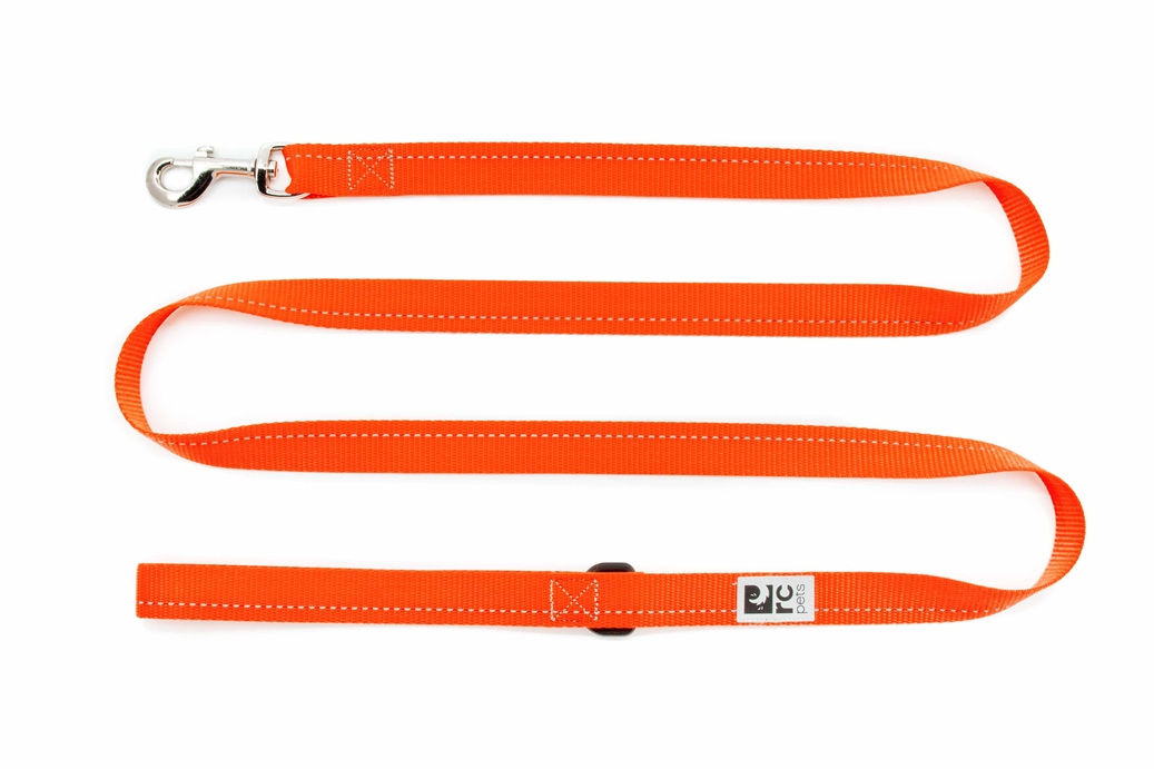 RC Pet Products Primary Orange Dog Leash, 0.5-in x 6-ft