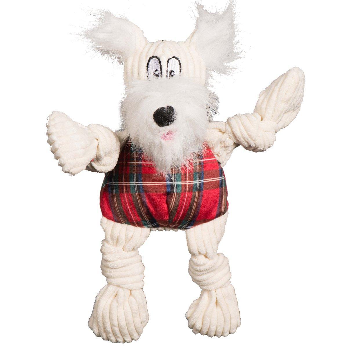 Hugglehounds Totally Tartan Whiskey Westie Knottie Dog Toy, Small