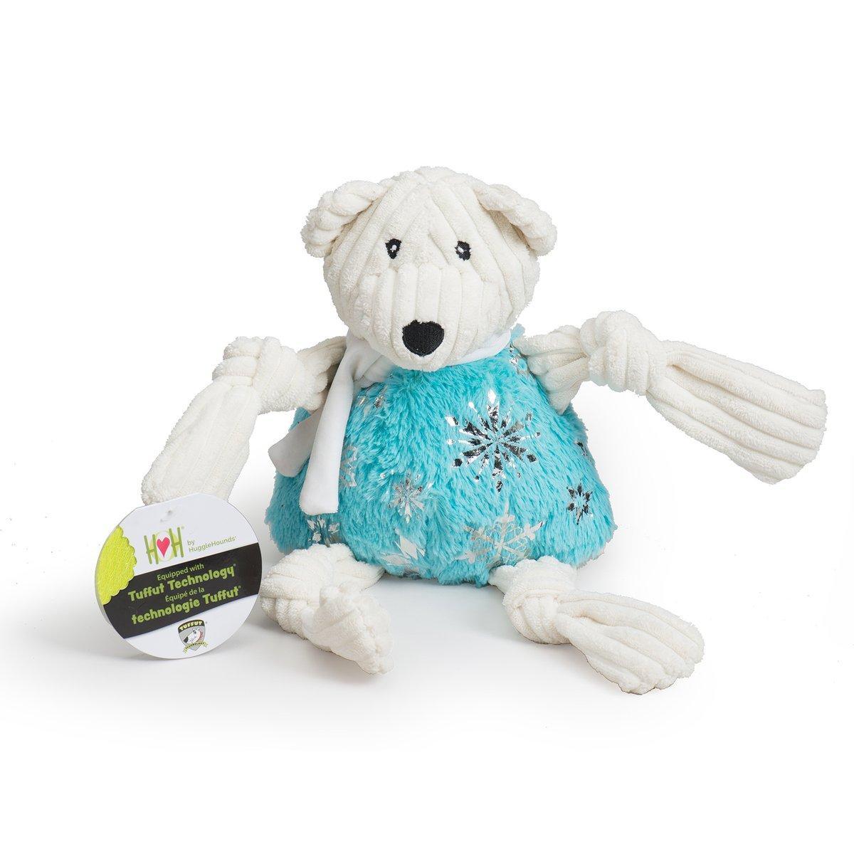 Hugglehounds Puttin' on the Glitz Bear Knottie Dog Toy, Large