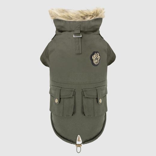 Canada Pooch Alaskan Army Parka Dog Coat, Army Green, 16-in