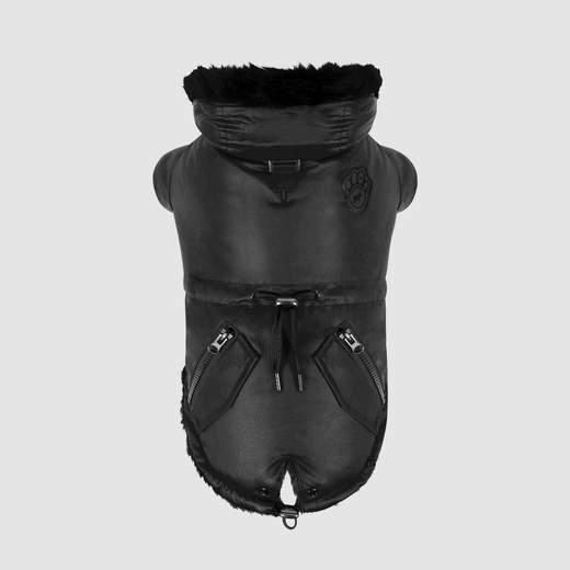 Canada Pooch Urban Wax Parka Dog Coat, Black, 14-in