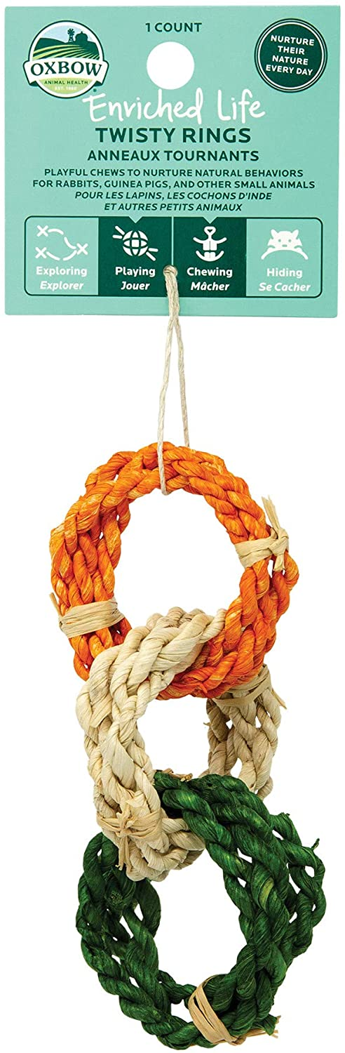 Oxbow Twisty Rings Small Animal Toy