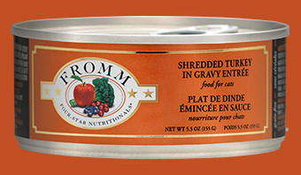 Fromm Four Star Shredded Turkey in Gravy Canned Cat Food Image