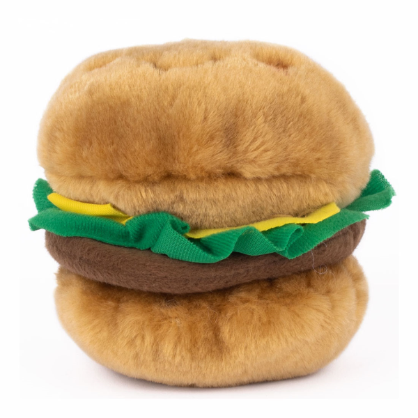 Zippy Paws Nom Nomz Burger Dog Toy Image