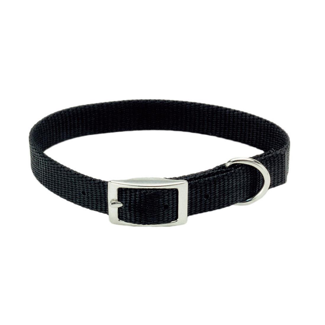 Coastal Single-Ply Dog Collar, Black Image
