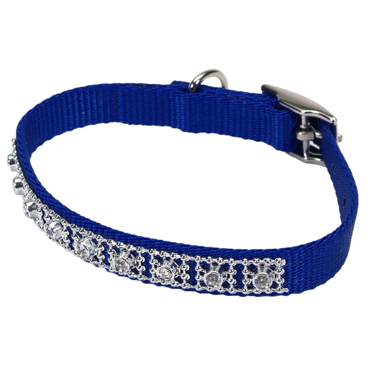 Coastal Jeweled Dog Collar, Blue Image