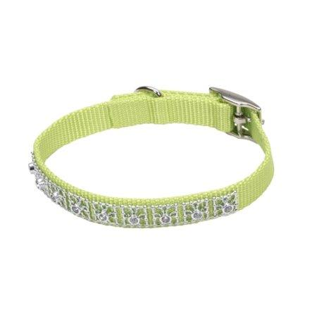 Coastal Jeweled Dog Collar, Lime Image
