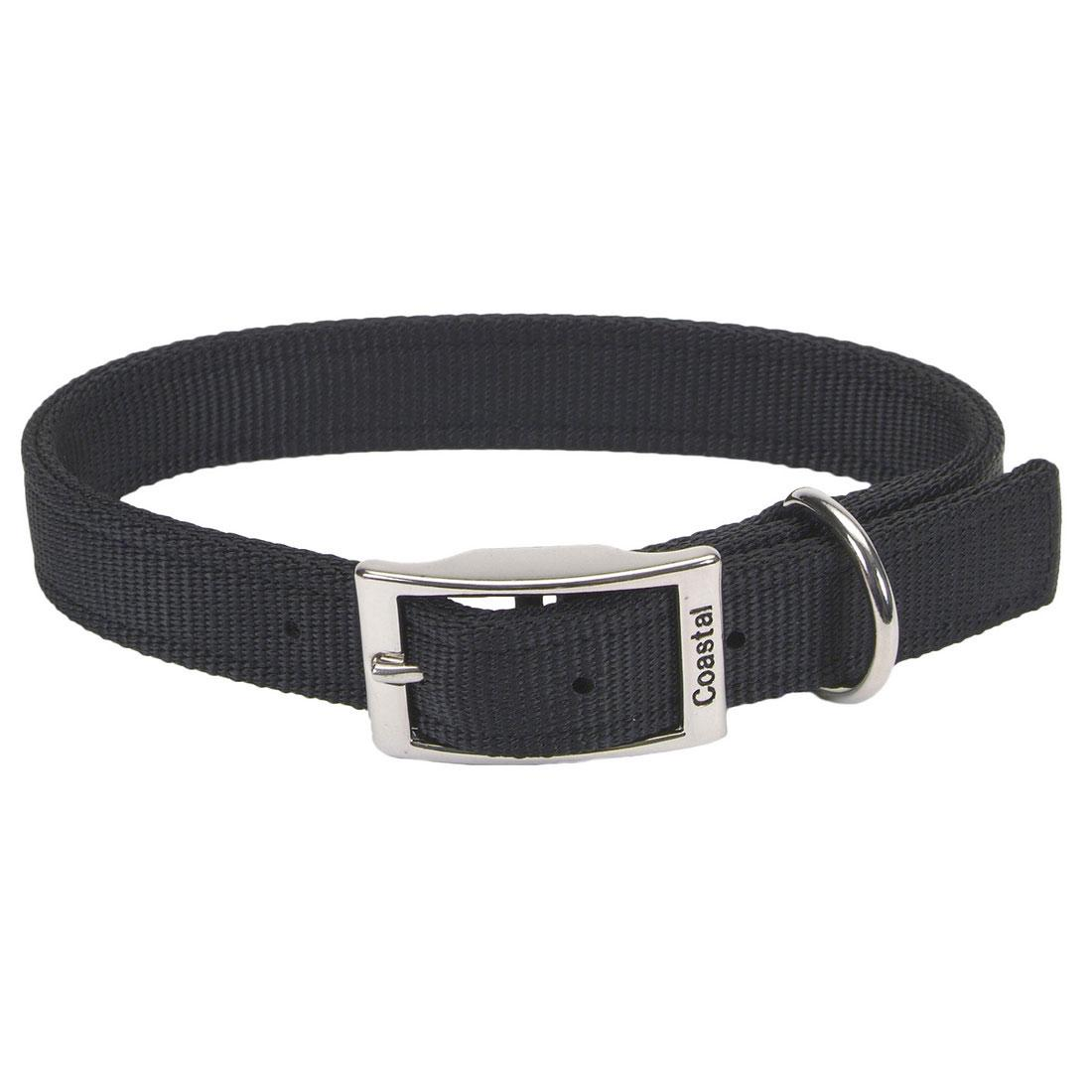 Coastal Double-Ply Nylon Dog Collar, Black Image