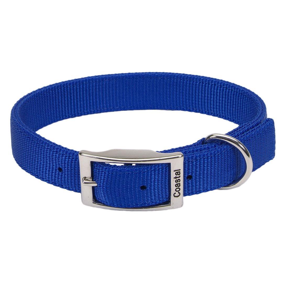 Coastal Double-Ply Nylon Dog Collar, Blue, 1-in x 26-in