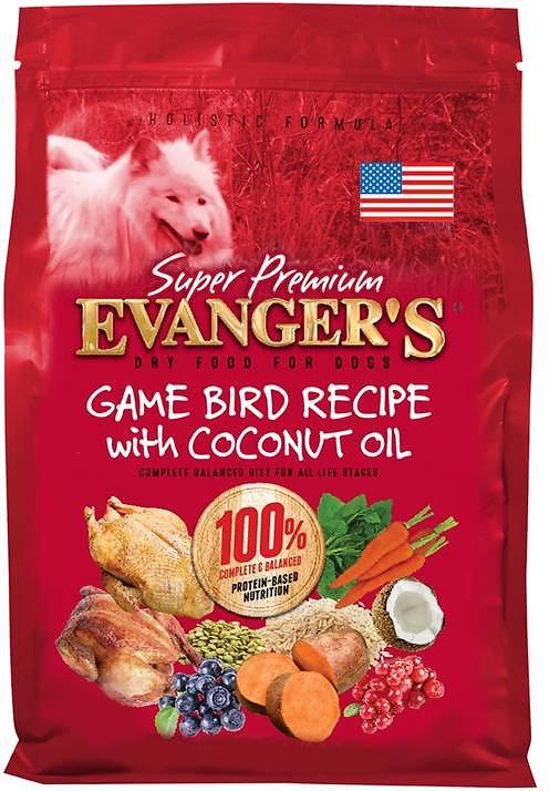 Evanger's Super Premium Game Bird Recipe with Coconut Oil Dry Dog Food, 4.4-lb