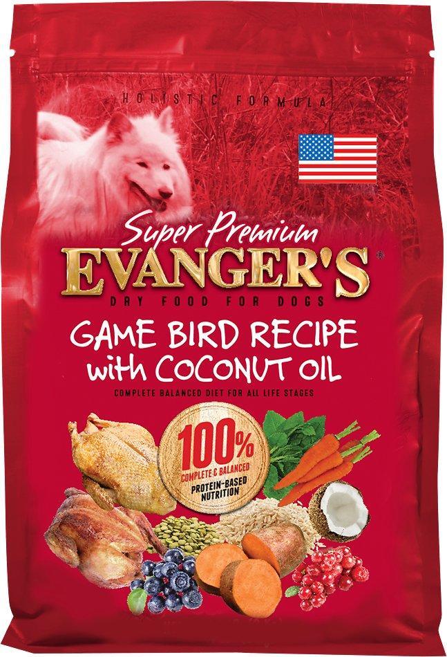 Evanger's Super Premium Game Bird Recipe with Coconut Oil Dry Dog Food, 33-lb