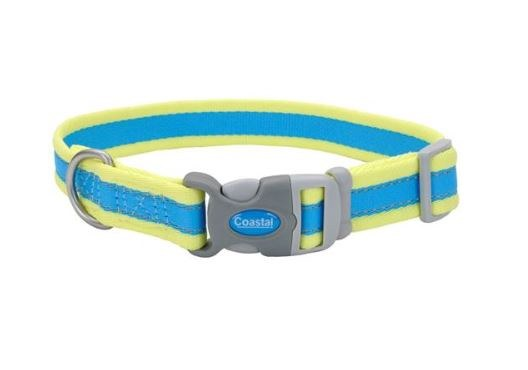 Pro Reflective Collar, Aqua Yellow3/4-inx10-14-in