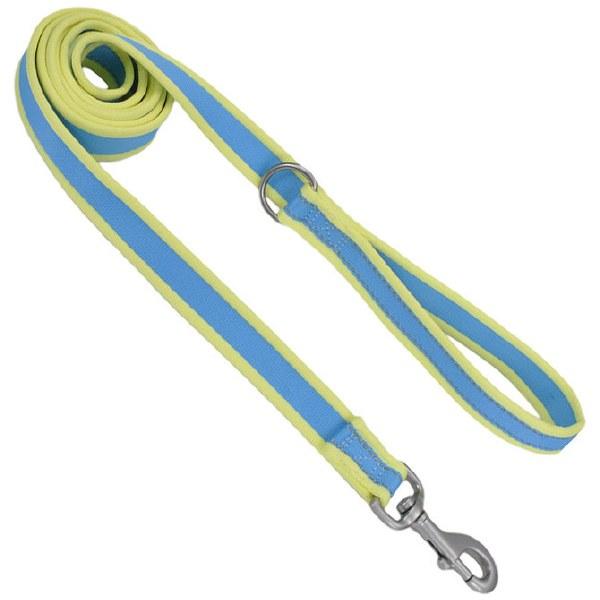 Pro Nylon Leash, Aqua Yellow3/4-inx6-ft