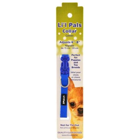 Li'l Pals Adjustable Dog Collar, BlueSmall