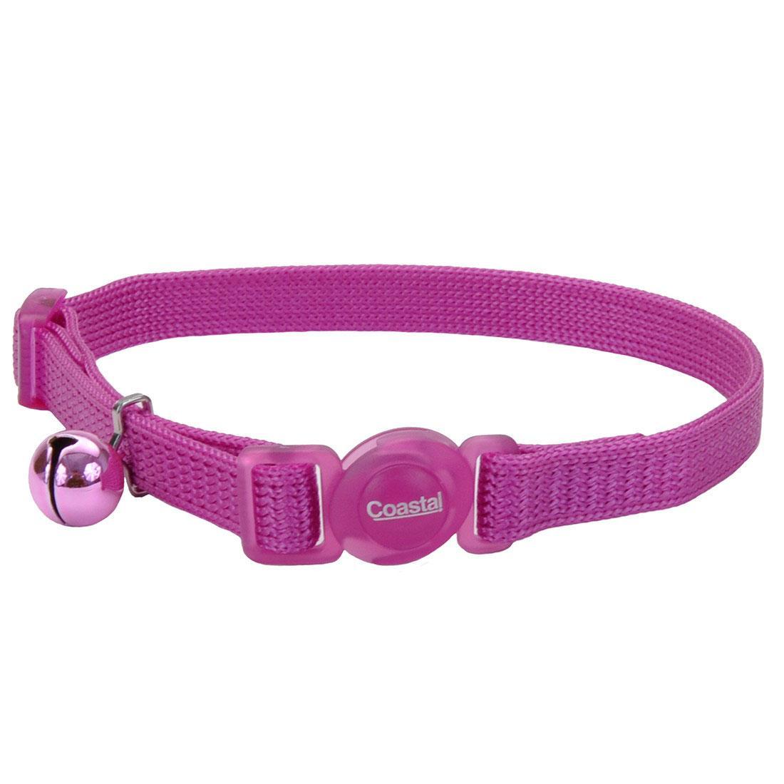 Safe Cat Adjustable Snag-Proof Breakaway Cat Collar, Orchid, 3/8-in x 8-12-in