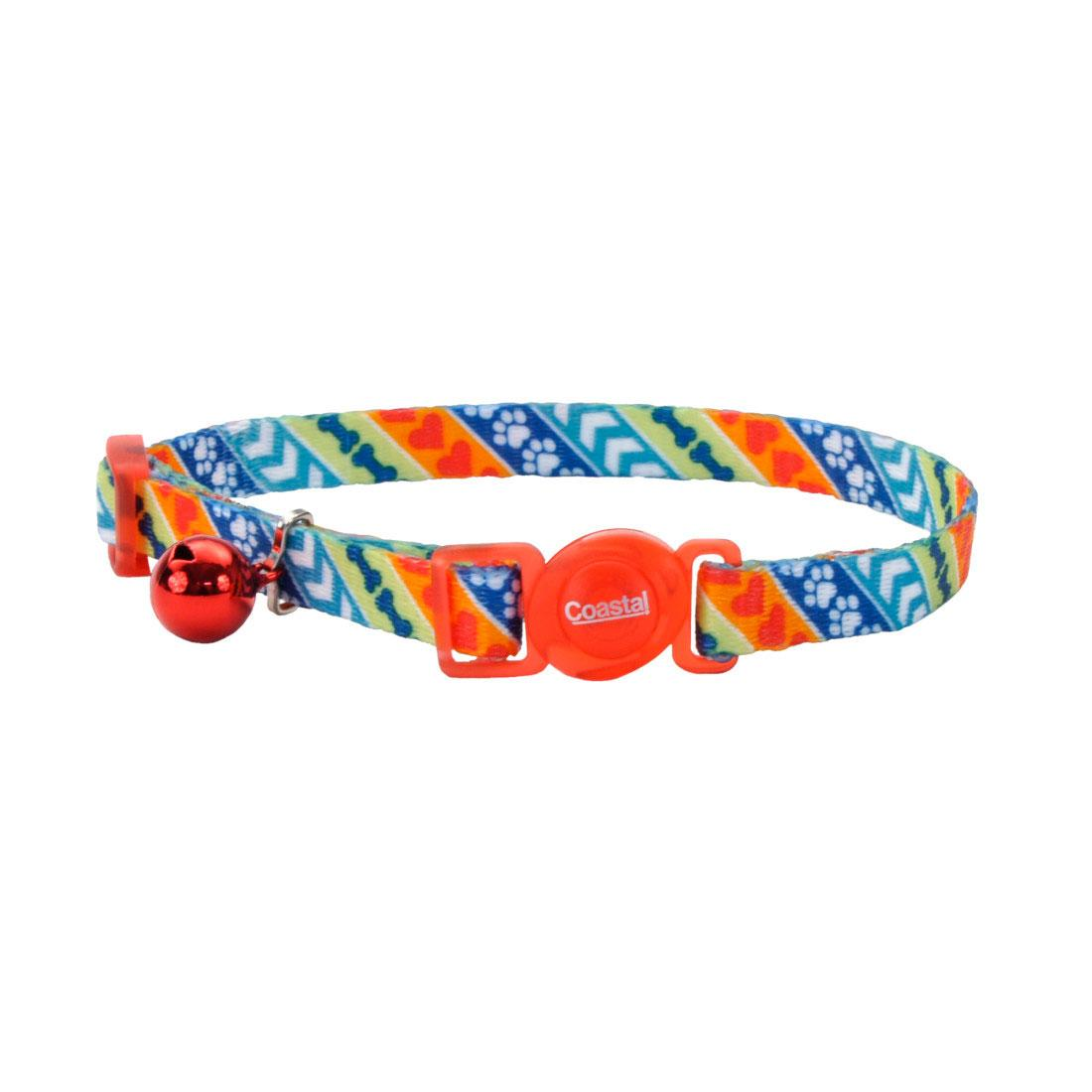 Safe Cat Fashion Adjustable Breakaway Cat Collar, Resolve, 3/8-in x 8-12-in (Size: 3/8-in x 8-12-in) Image