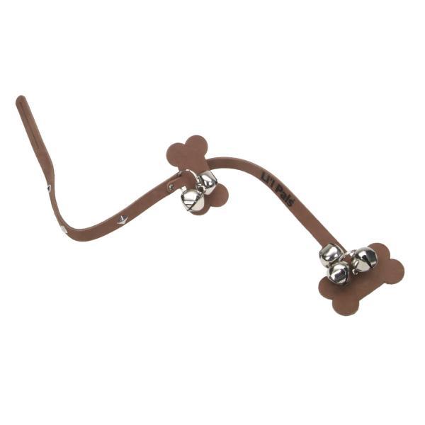 Li'l Pals Leather Dog Potty Training Bells, Chocolate, 32-in