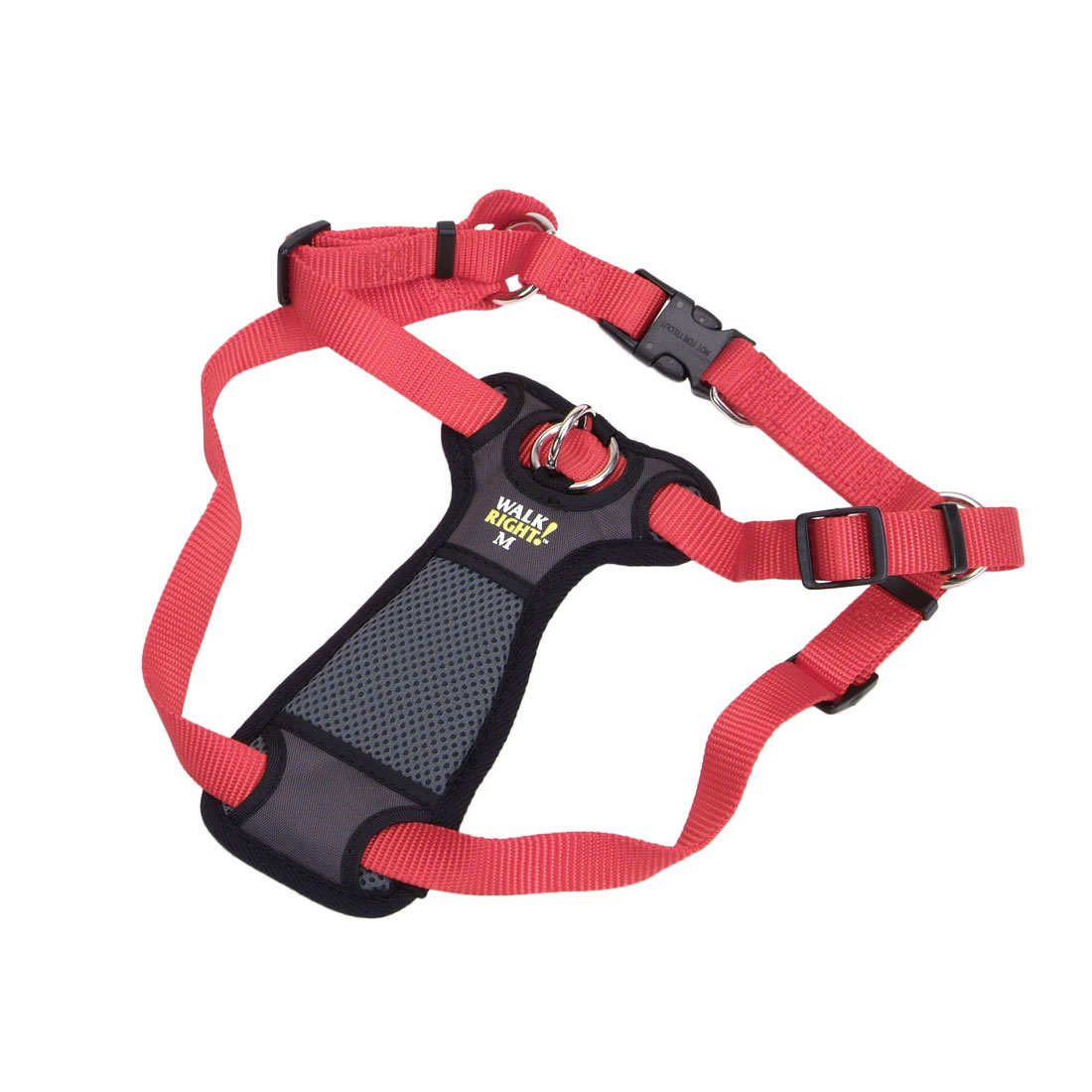 Coastal Walk Right! Front-Connect No-Pull Padded Dog Harness, Red, Medium, 20-30-in