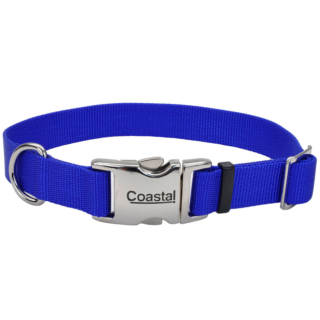 Coastal Adjustable Collar with Metal Buckle for Dogs, Blue Image