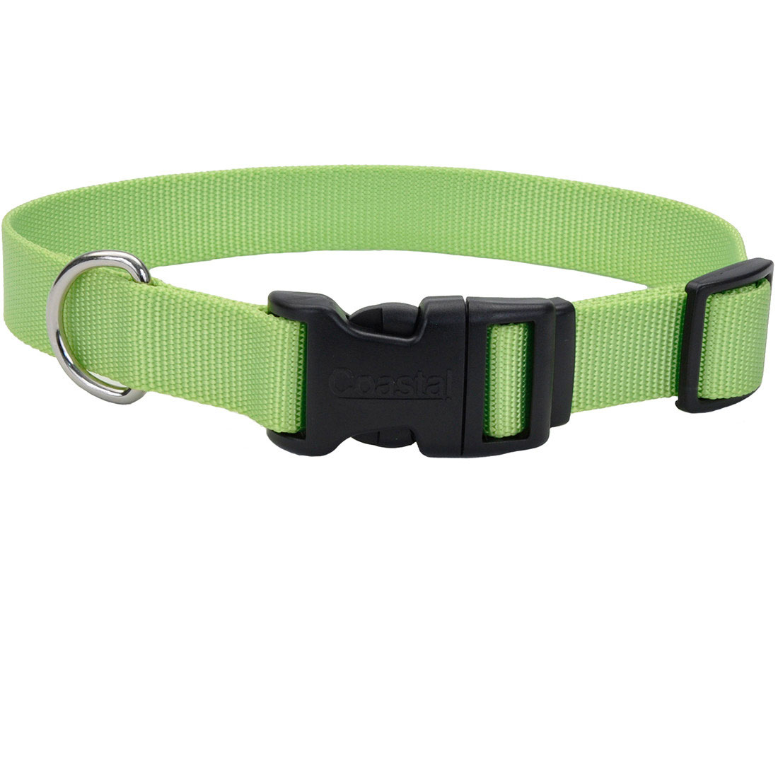 Coastal Adjustable Collar with Plastic Buckle for Dogs, Lime Image