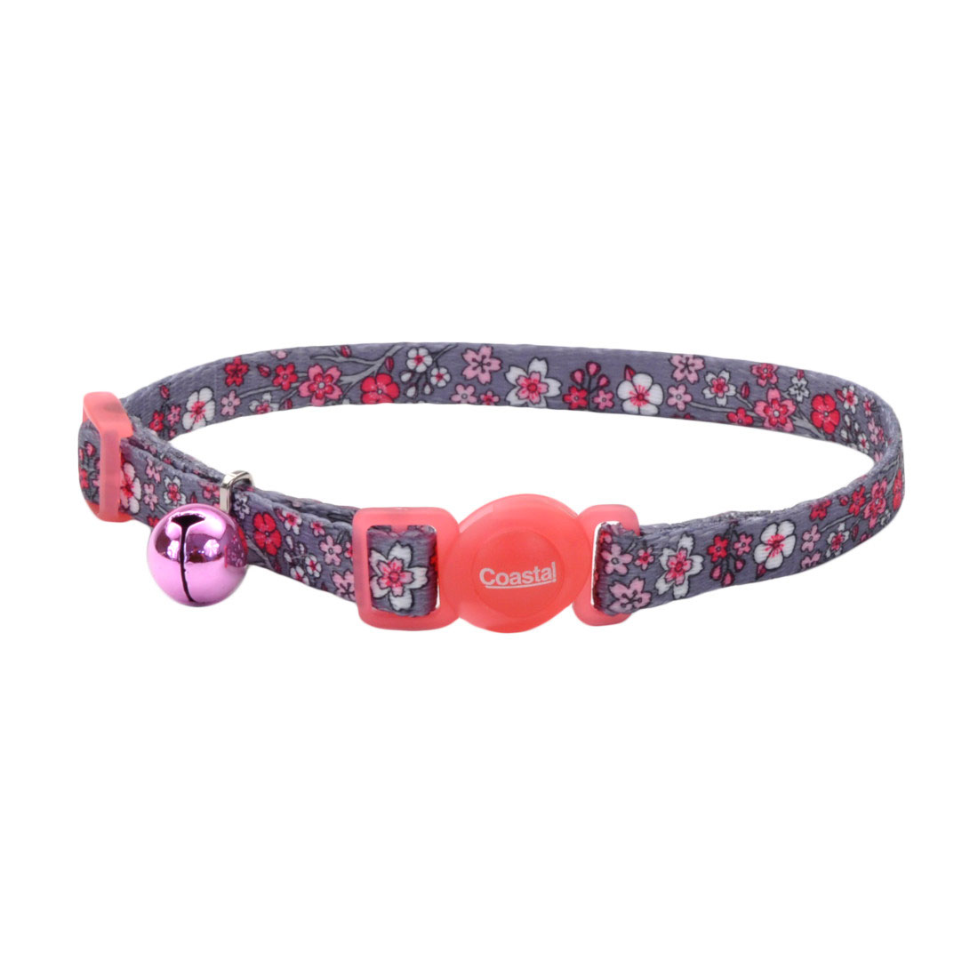 Safe Cat Fashion Adjustable Breakaway Collar, Pink Cherry Blossoms Image