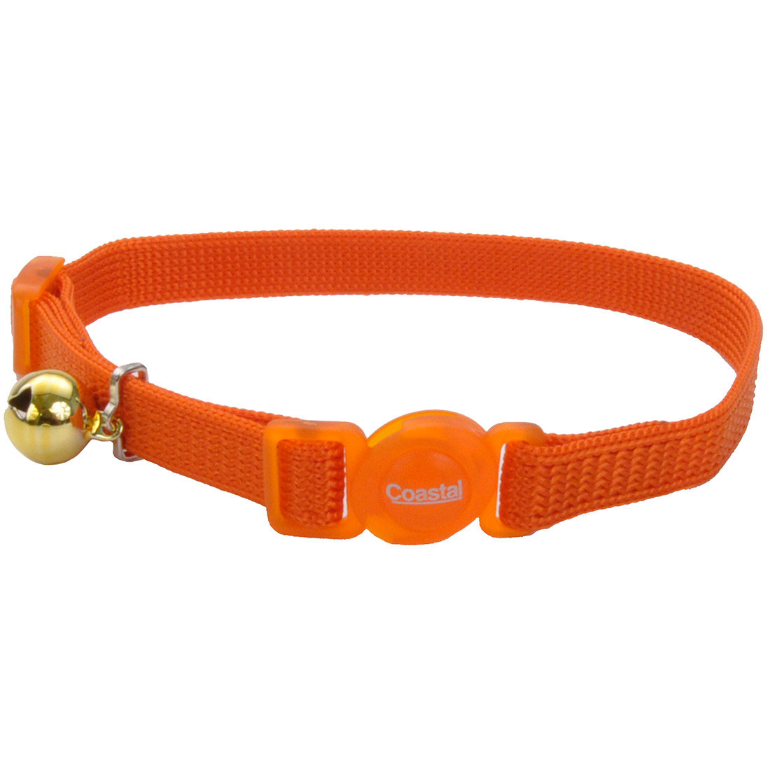 Safe Cat Adjustable Snag-Proof Breakaway Cat Collar, Sunset Orange Image