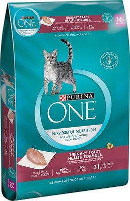 Purina ONE Urinary Tract Health Formula Adult Premium Dry Cat Food, 16-lb bag