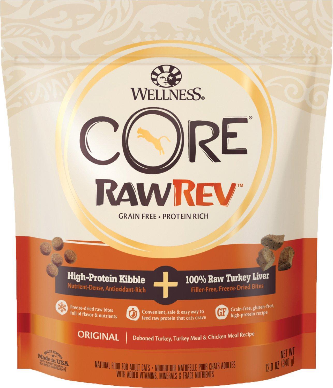 Wellness CORE Rawrev Original Recipe with Freeze-Dried Turkey Liver Dry Cat Food, 12-oz