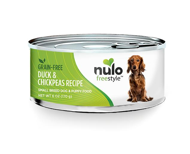 NULO Freestyle Small Breed Duck & Chickpeas Recipe Canned Dog Food, 5.5-oz