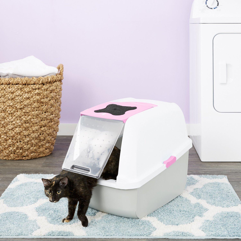 Catit Hooded Cat Pan, Pink Image