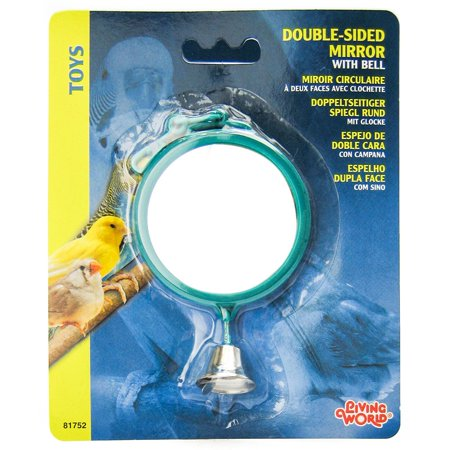 Living World Double Sided Mirror with Bell Image