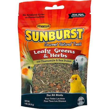 Higgins Sunburst Leafy Greens And Herbs Bird Treat, 1-oz Image