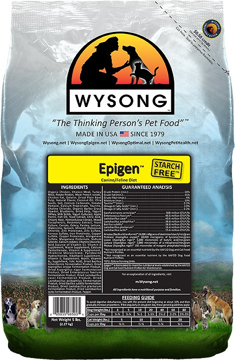 Wysong Epigen Starch-Free Chicken Formula Grain-Free Dry Dog & Cat Food, 5-lb bag (Weights: 5.0 pounds) Image