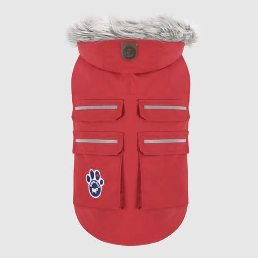 Canada Pooch Everest Explorer Dog Jacket, Red Refective