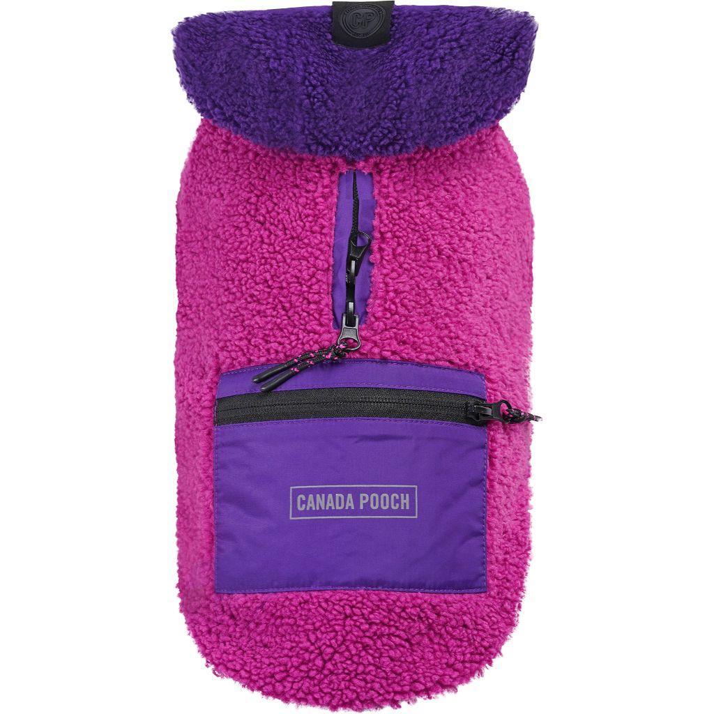 Canada Pooch Cool Factor Dog Hoodie, Pink/Purple, 16-in